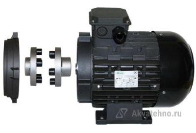 Двигатель 7,5 кВт H132S полый вал d 24 мм с напольной установкой с эластичной муфтой