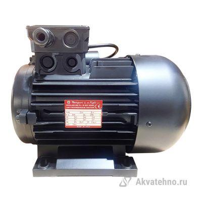 Двигатель 5.5 кВт, 400/230В, H112 полый вал d24мм, фланец насоса 75 мм
