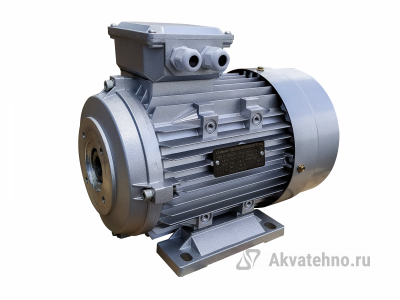 Двигатель 7,5 кВт 380B,MS 132M-4(7,5KW,B34,S176) полый вал d24мм фланец насоса 87 мм