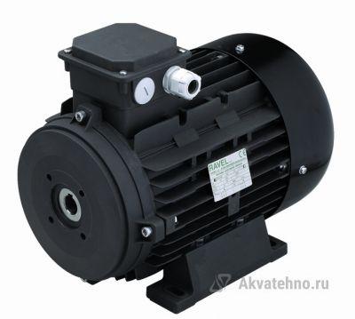 Двигатель 11 кВт H132L полый вал d 24 мм с напольной установкой