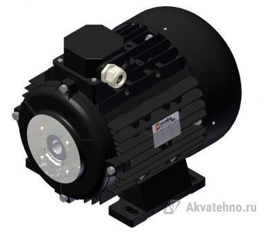 Электродвигатель 7,5 кВт полый вал 24 мм 230/400 В - 50 Гц, 132S T4 B3 BS AC 24
