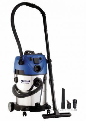 MULTI 30 INOX EU Пылеводосос(бытовой) 230Мбар/ 4800л/мин/ бак 30л/ 1800Вт/ 220В