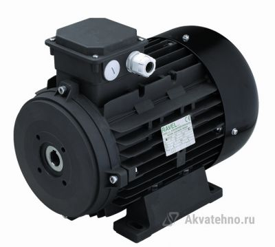 Двигатель 5.5 кВт 380B,H112 полый вал d24мм, фланец насоса 75 мм