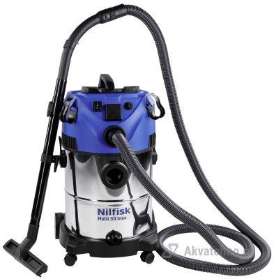 MULTI 30 T VSC INOX EU Пылеводосос(бытовой) 230Мбар/ 4800л/мин/ бак 30л/ 1800Вт/ 220В