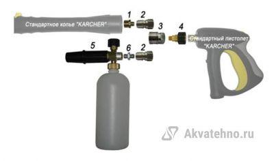 Пенный набор (PA, муфта-байонет 250bar) (арт.800045)